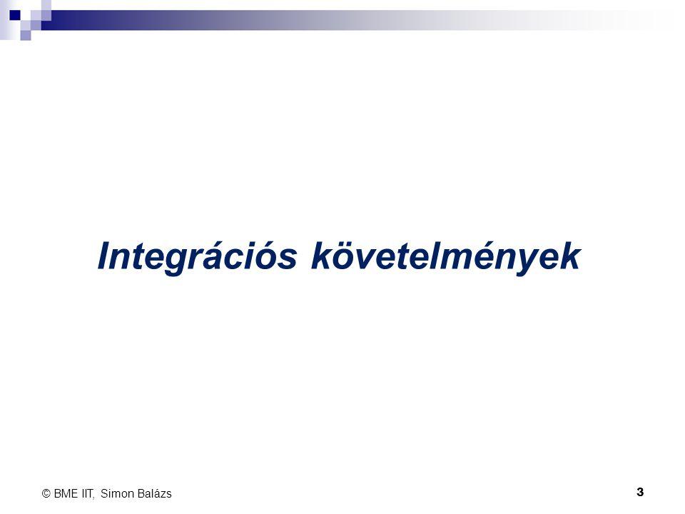 Integrációs követelmények