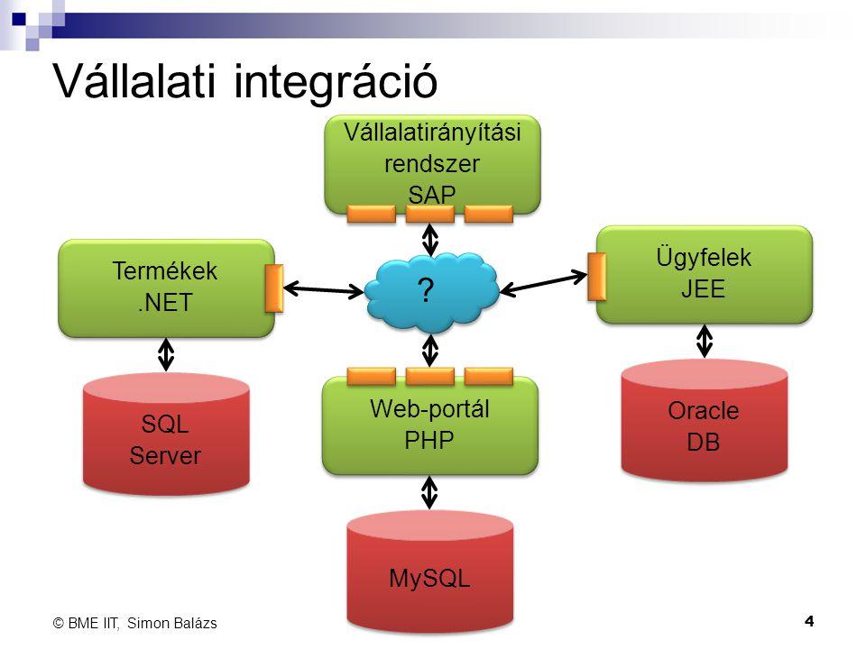 Vállalati integráció Vállalatirányítási rendszer SAP Ügyfelek