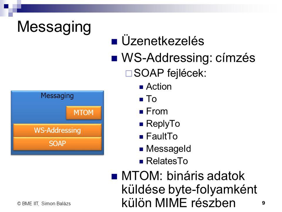 Messaging Üzenetkezelés WS-Addressing: címzés