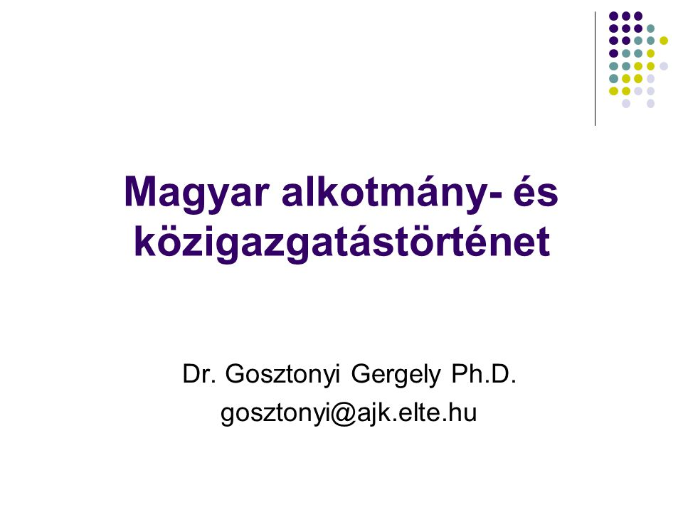 Magyar alkotmány- és közigazgatástörténet