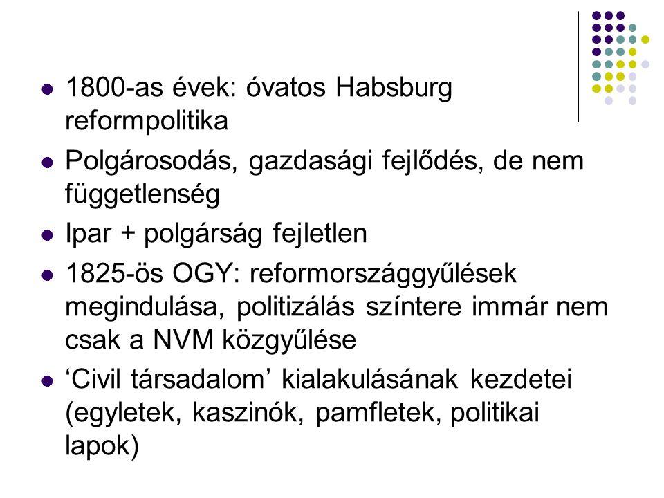 1800-as évek: óvatos Habsburg reformpolitika
