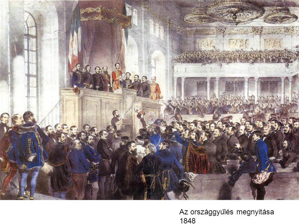Az országgyűlés megnyitása 1848