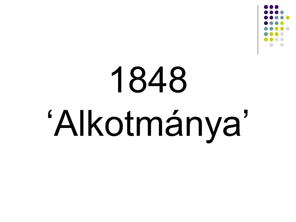 1848 'Alkotmánya'