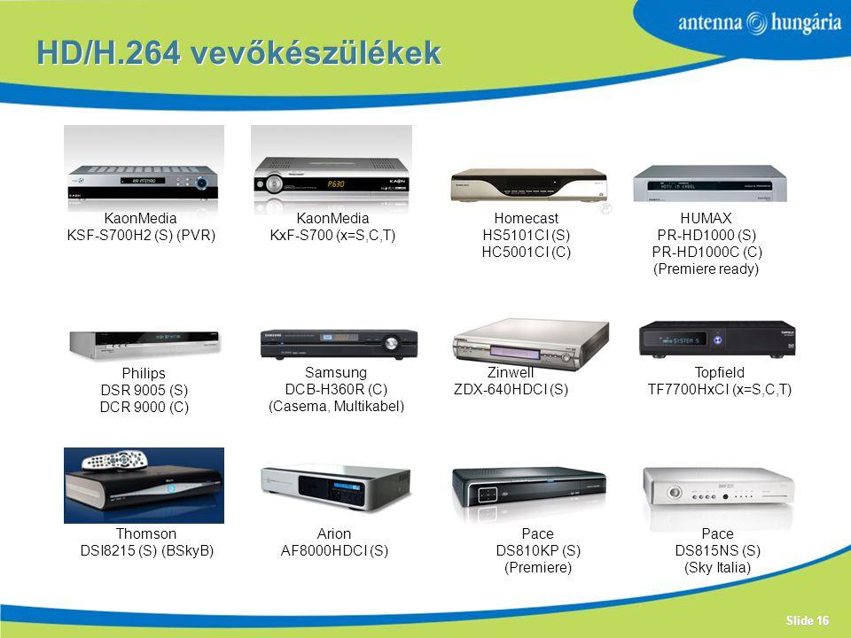 HD/H.264 vevőkészülékek KaonMedia KSF-S700H2 (S) (PVR) KaonMedia