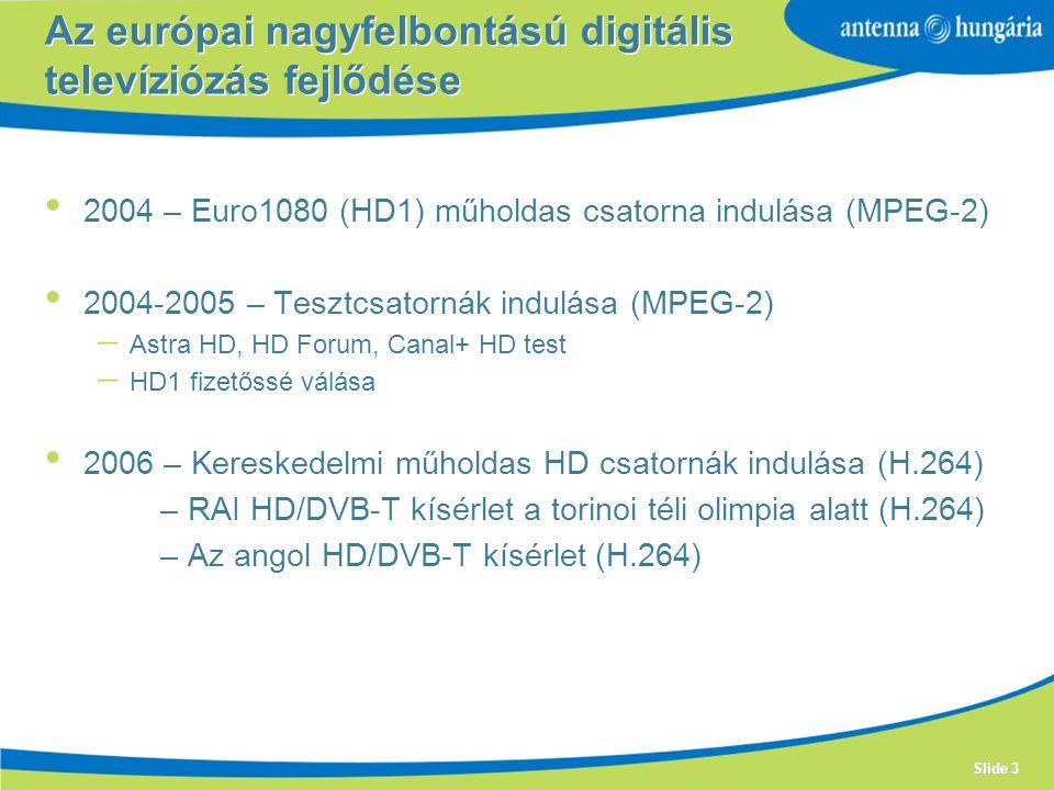 Az európai nagyfelbontású digitális televíziózás fejlődése