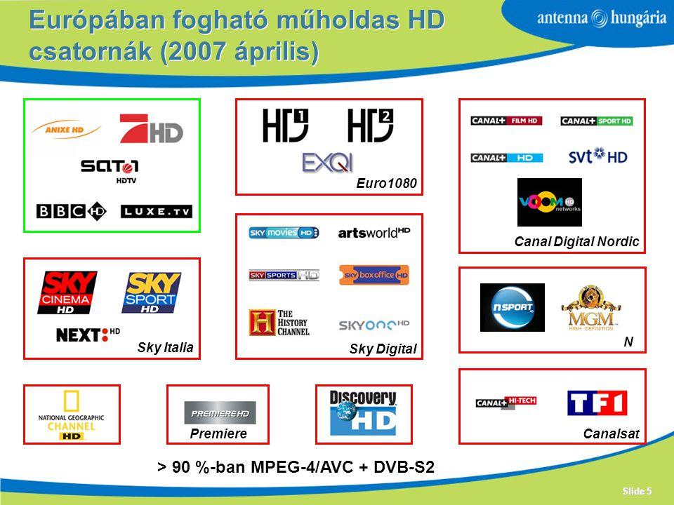 Európában fogható műholdas HD csatornák (2007 április)