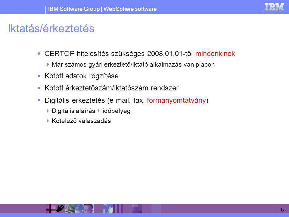 Iktatás/érkeztetés CERTOP hitelesítés szükséges 2008.01.01-től mindenkinek. Már számos gyári érkeztető/iktató alkalmazás van piacon.