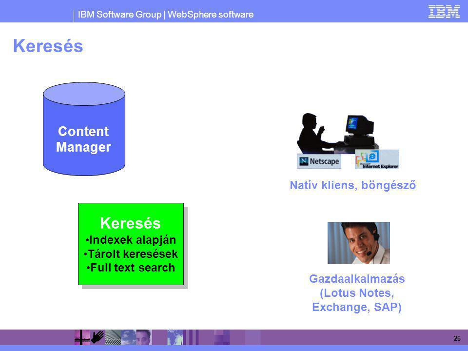 Gazdaalkalmazás (Lotus Notes, Exchange, SAP)
