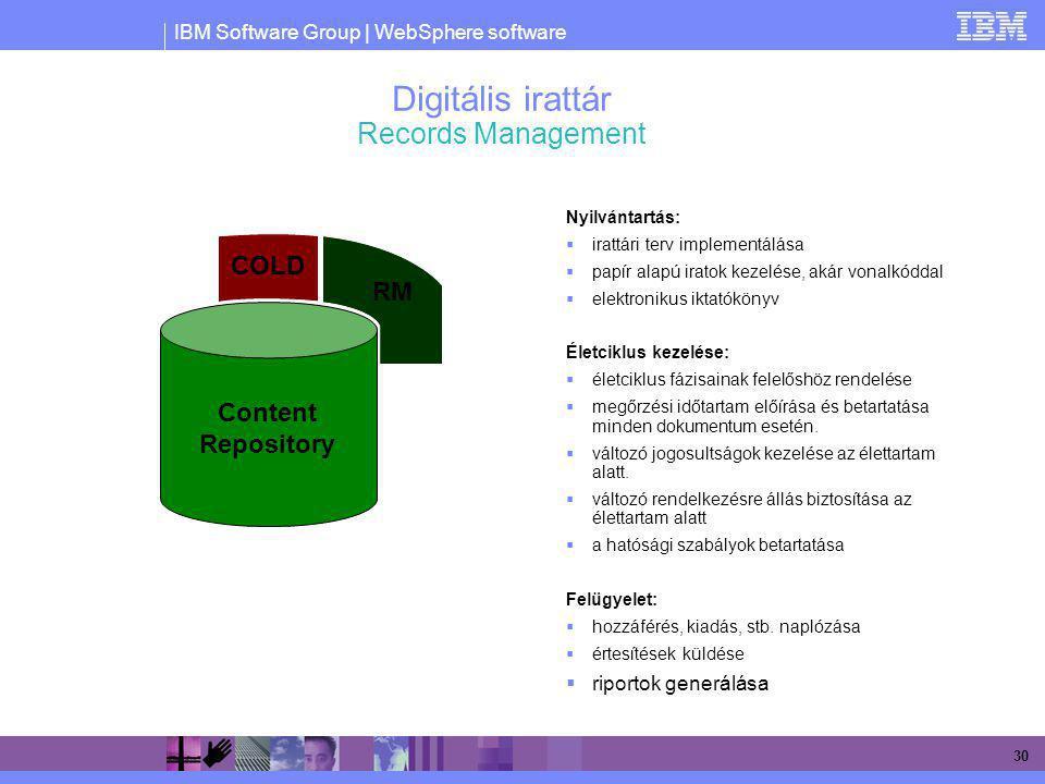 Digitális irattár Records Management