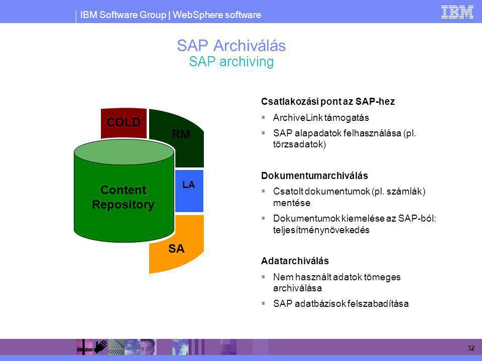 SAP Archiválás SAP archiving