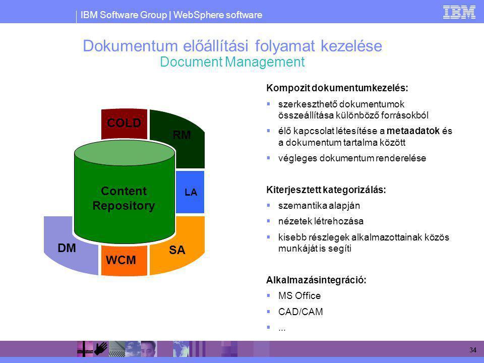 Dokumentum előállítási folyamat kezelése Document Management
