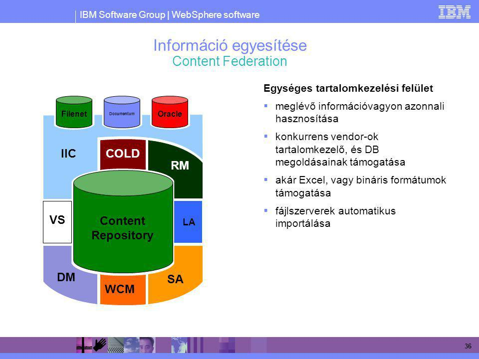 Információ egyesítése Content Federation