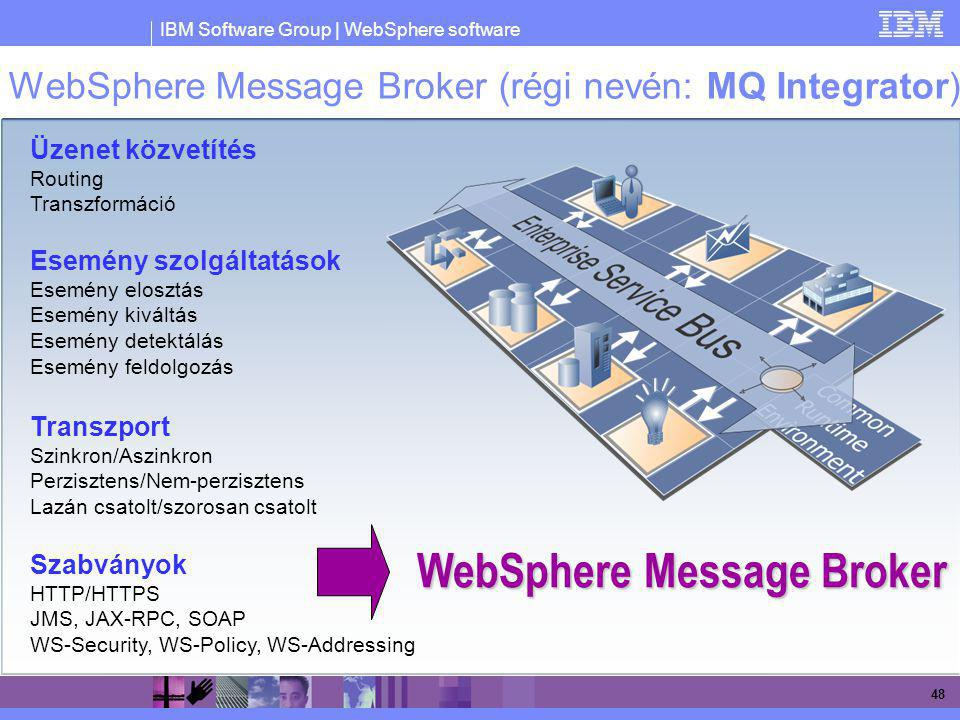 WebSphere Message Broker (régi nevén: MQ Integrator)