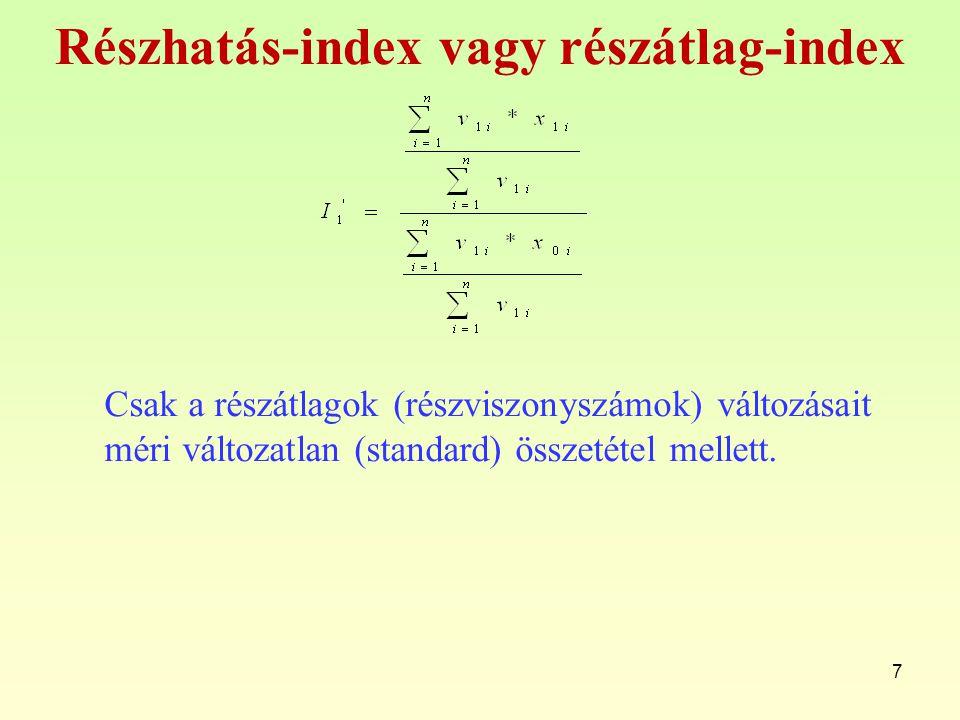 Részhatás-index vagy részátlag-index