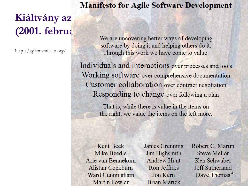 Kiáltvány az agilis szoftverfejlesztéséért (2001. február)