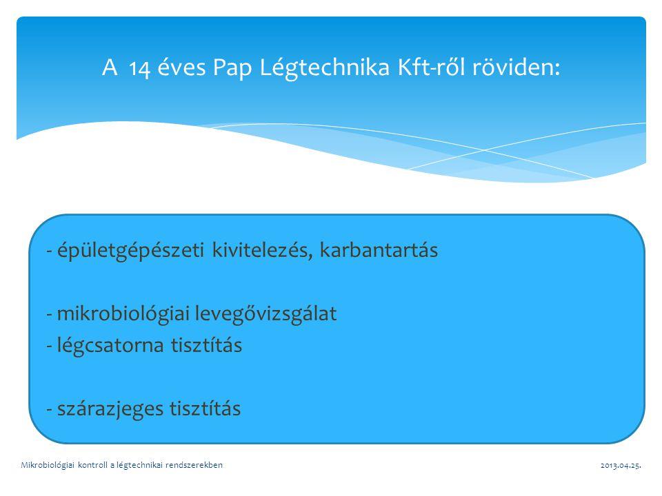 A 14 éves Pap Légtechnika Kft-ről röviden: