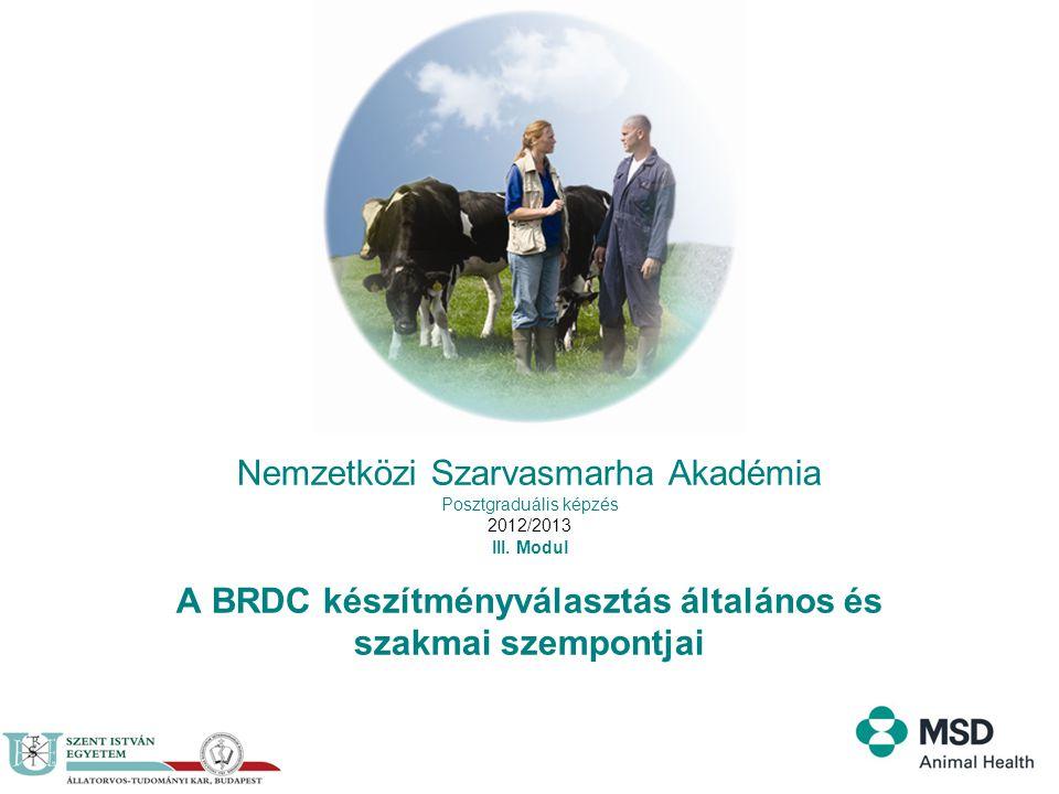 Nemzetközi Szarvasmarha Akadémia Posztgraduális képzés 2012/2013 III