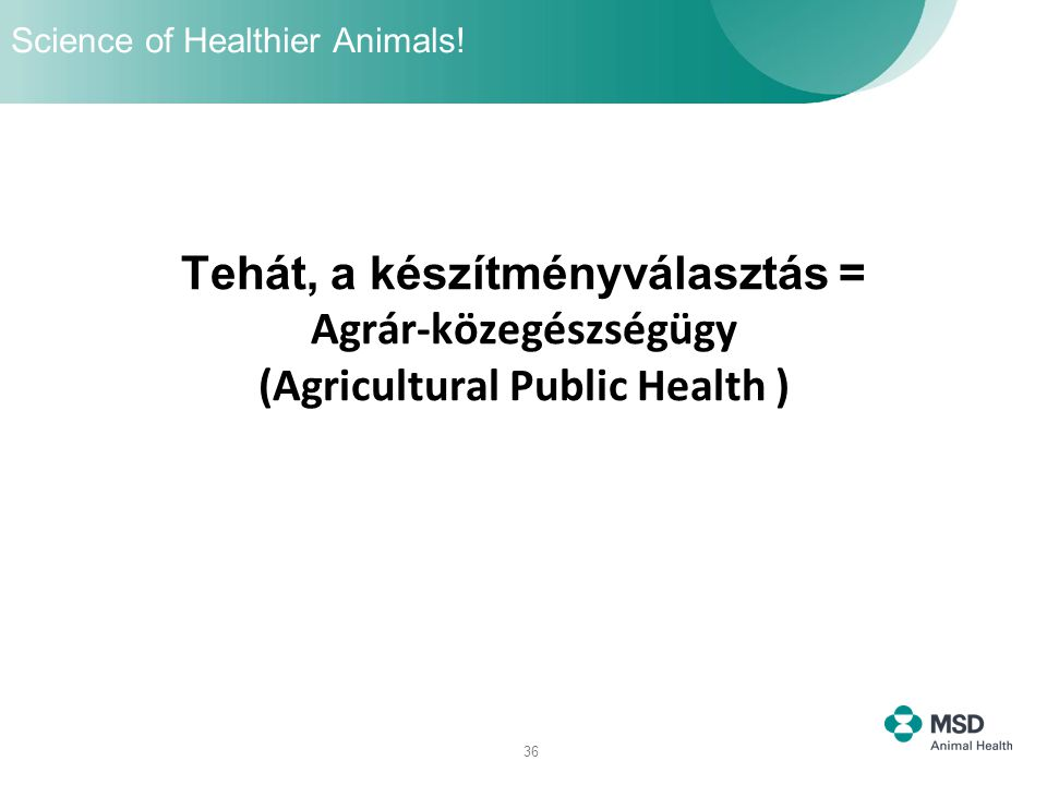 Science of Healthier Animals!