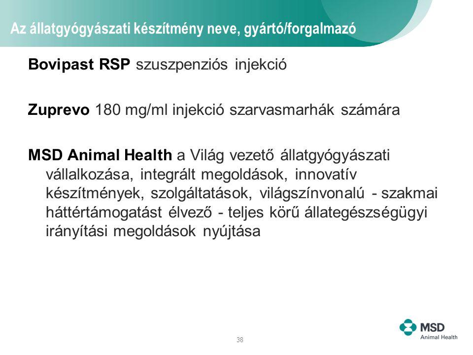 Az állatgyógyászati készítmény neve, gyártó/forgalmazó