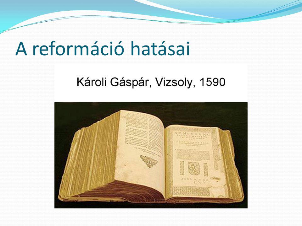 A reformáció hatásai