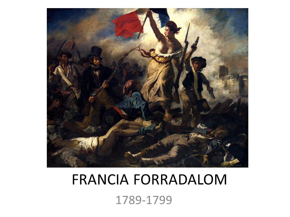 FRANCIA FORRADALOM 1789-1799