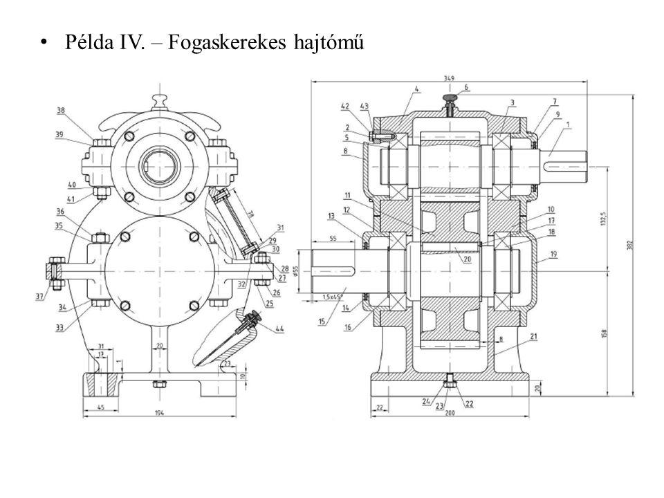 Példa IV. – Fogaskerekes hajtómű