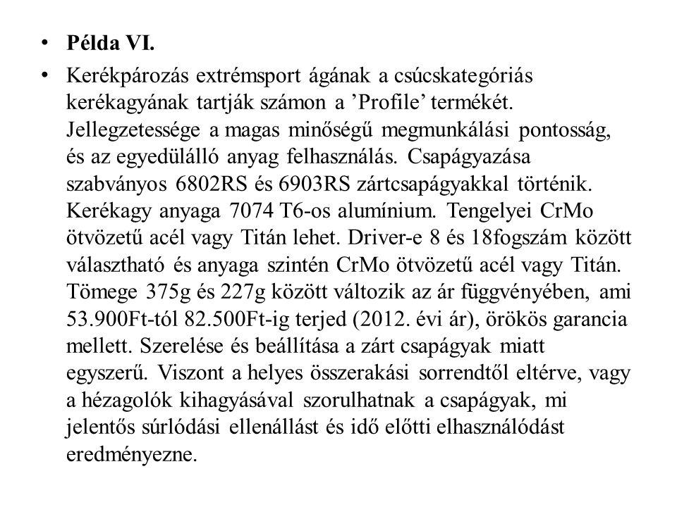 Példa VI.
