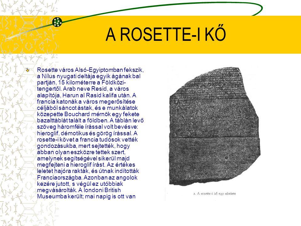 A ROSETTE-I KŐ