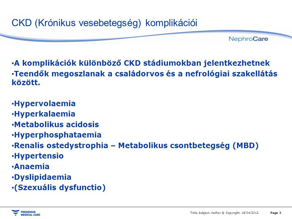 CKD (Krónikus vesebetegség) komplikációi