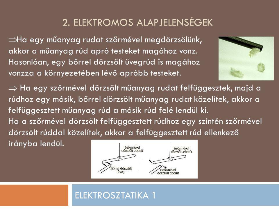 2. Elektromos alapjelenségek