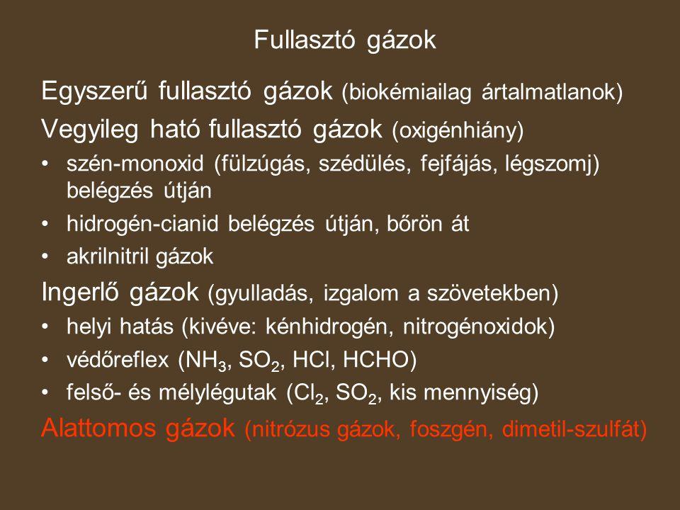 Egyszerű fullasztó gázok (biokémiailag ártalmatlanok)
