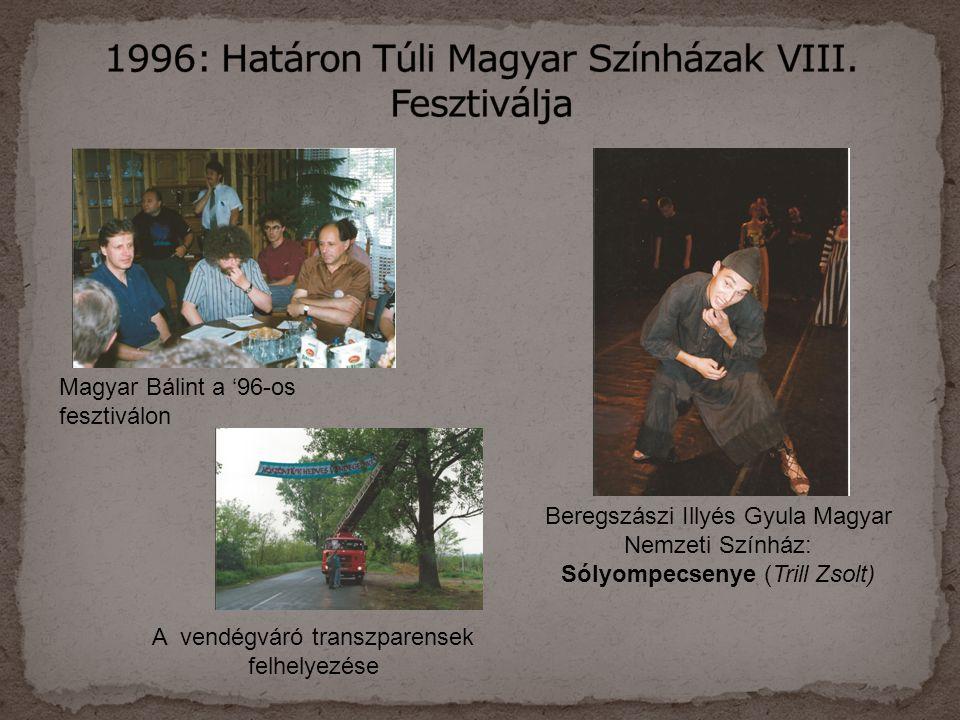 1996: Határon Túli Magyar Színházak VIII. Fesztiválja