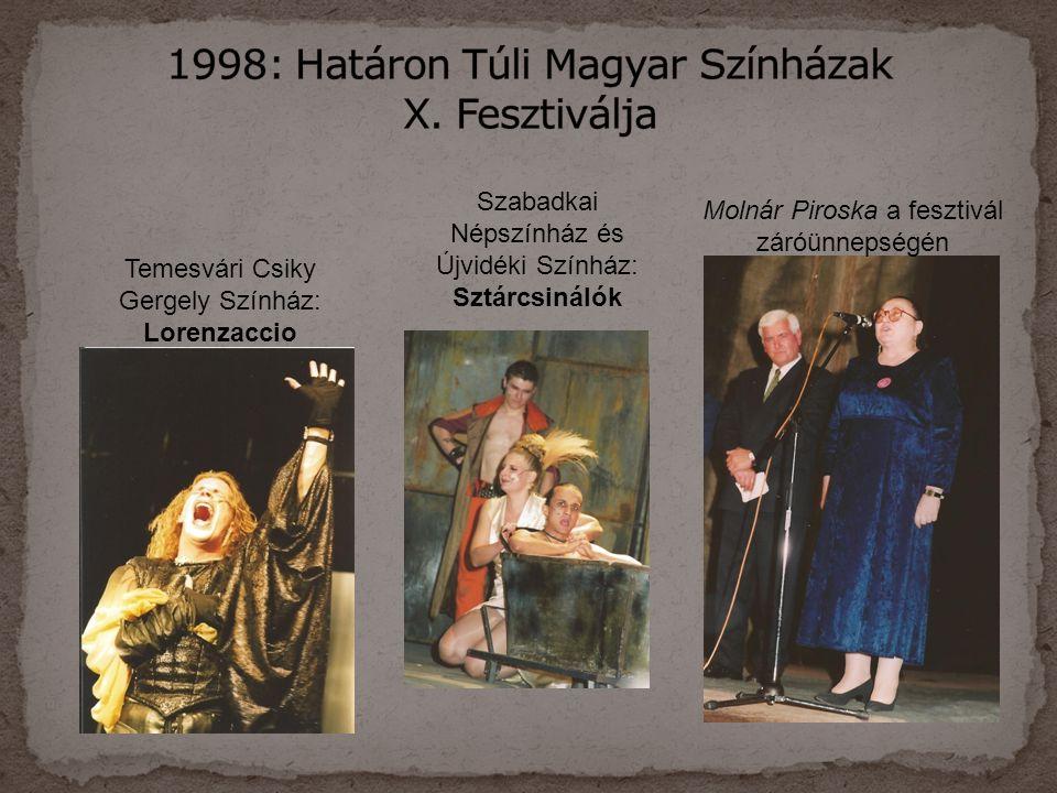 1998: Határon Túli Magyar Színházak X. Fesztiválja