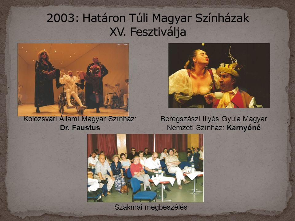 2003: Határon Túli Magyar Színházak XV. Fesztiválja
