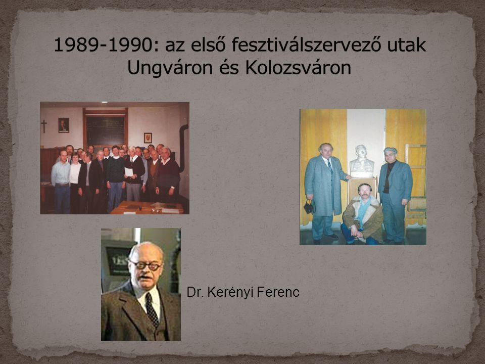 1989-1990: az első fesztiválszervező utak Ungváron és Kolozsváron