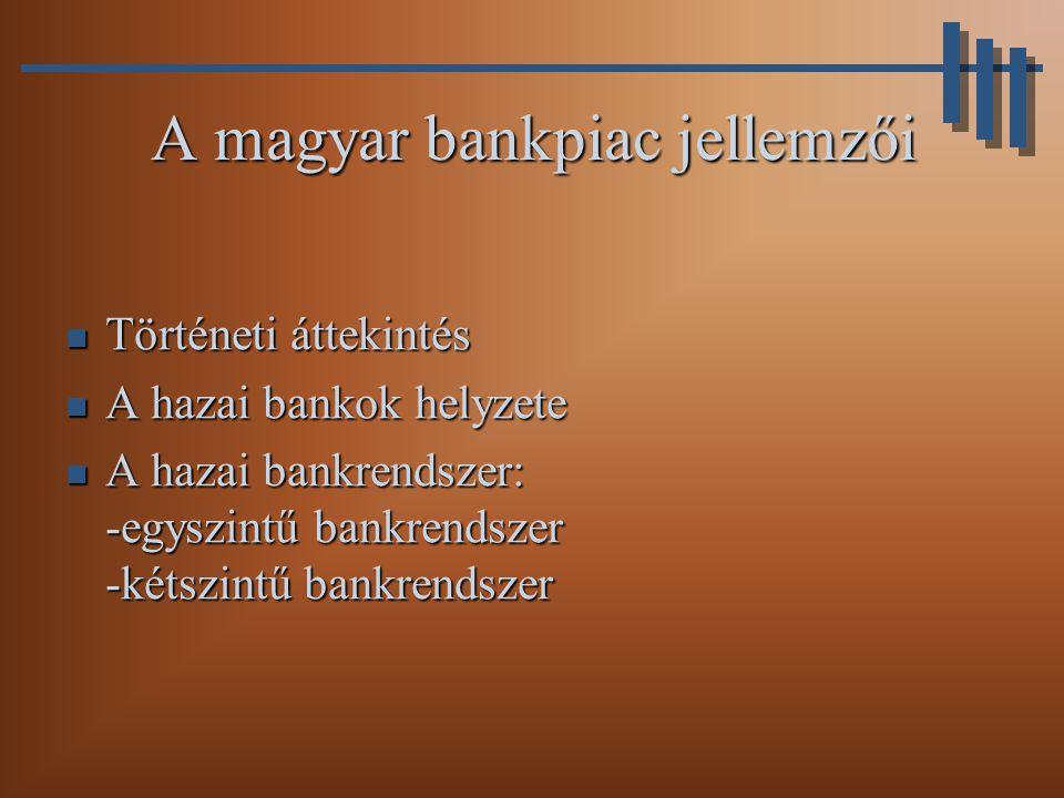 A magyar bankpiac jellemzői