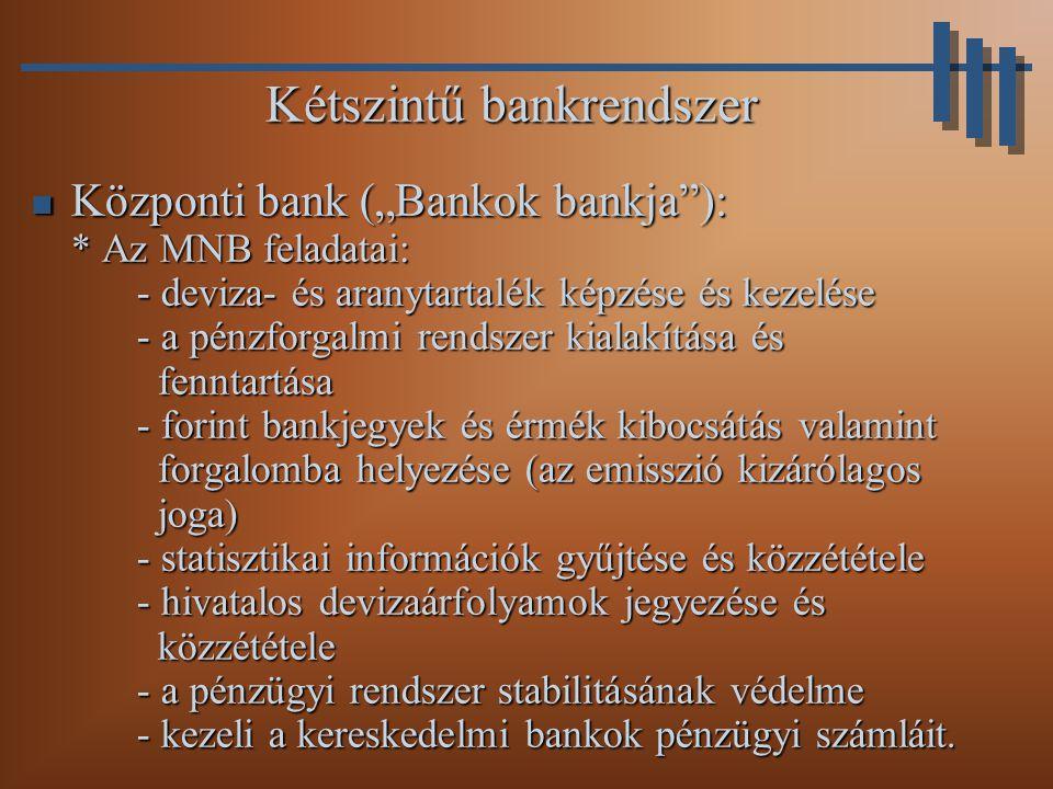 Kétszintű bankrendszer