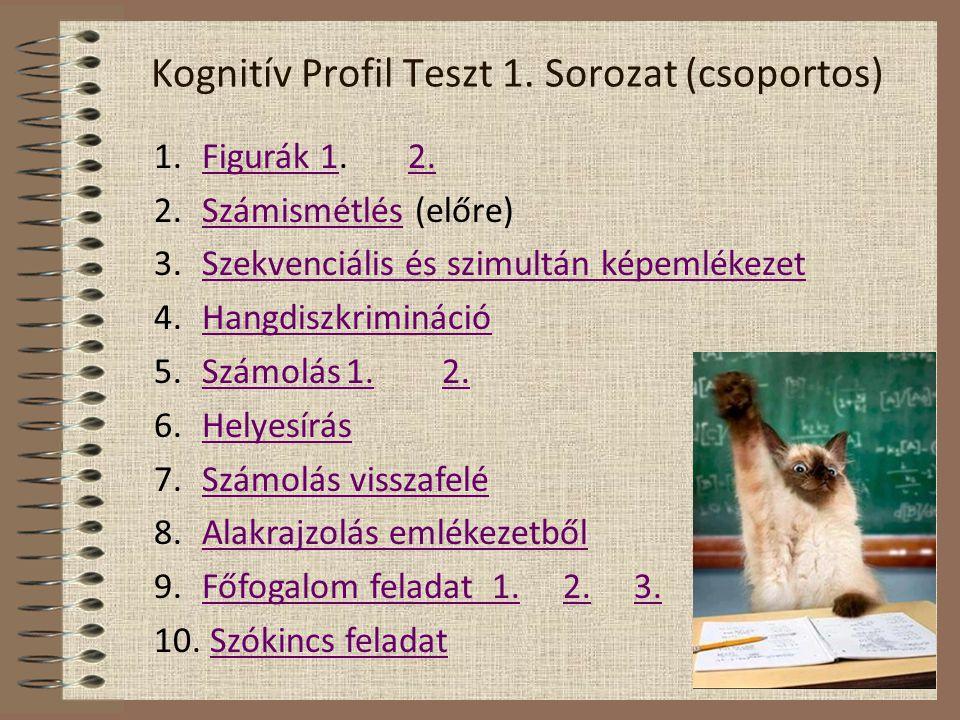 Kognitív Profil Teszt 1. Sorozat (csoportos)
