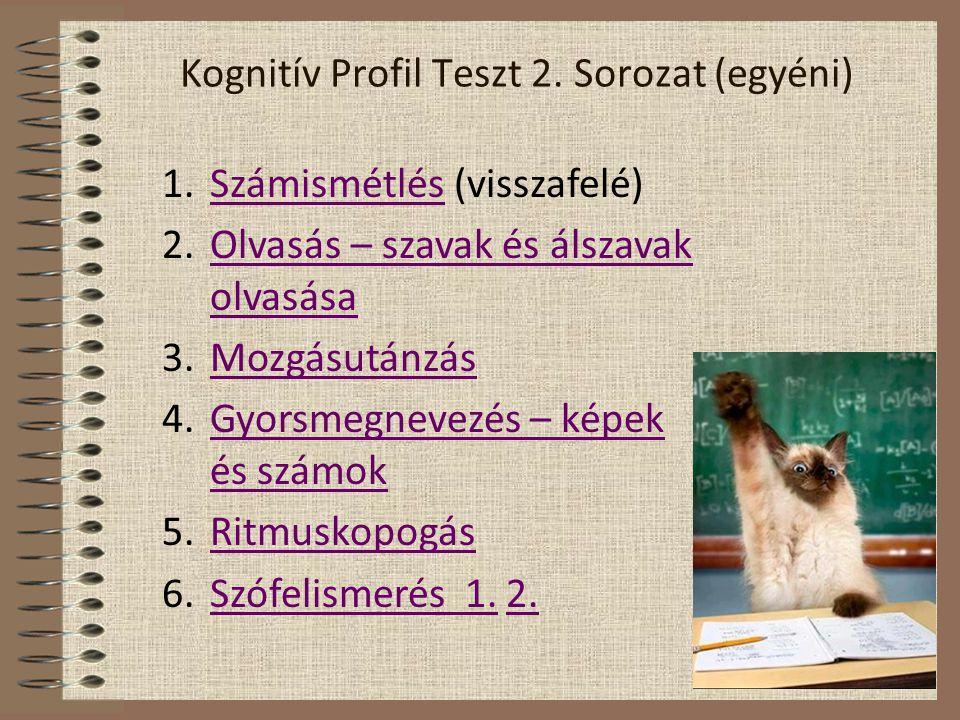 Kognitív Profil Teszt 2. Sorozat (egyéni)