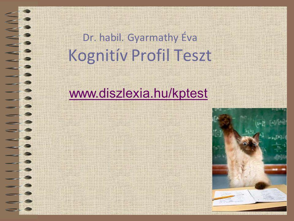 Dr. habil. Gyarmathy Éva Kognitív Profil Teszt