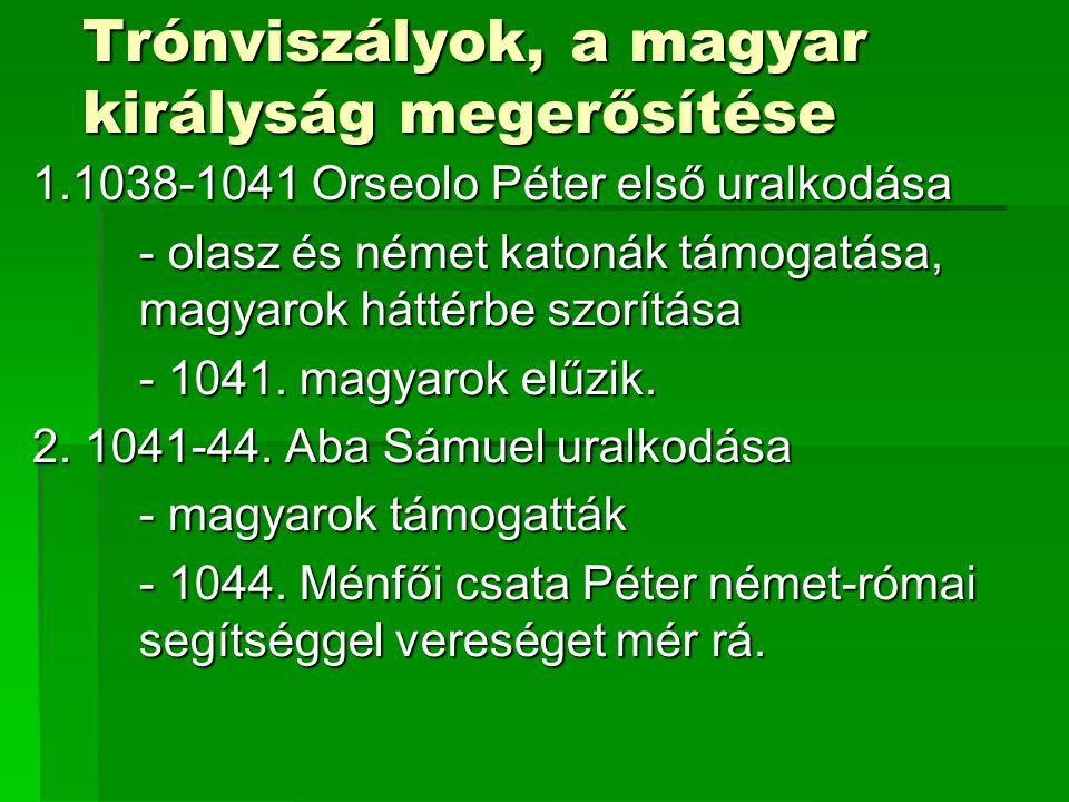 Trónviszályok, a magyar királyság megerősítése