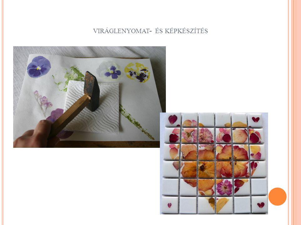 viráglenyomat- és képkészítés