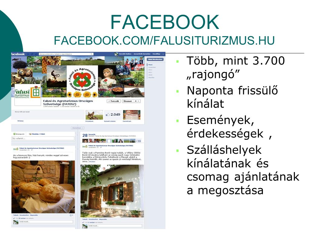 FACEBOOK FACEBOOK.COM/FALUSITURIZMUS.HU