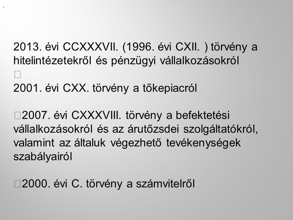 2001. évi CXX. törvény a tőkepiacról