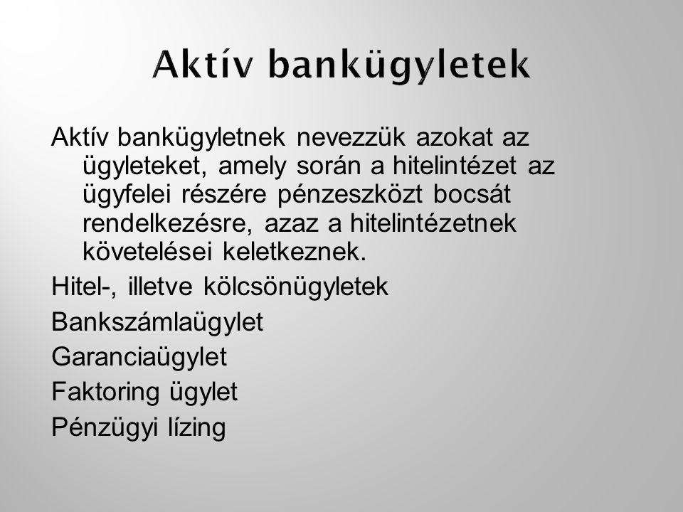 Aktív bankügyletek