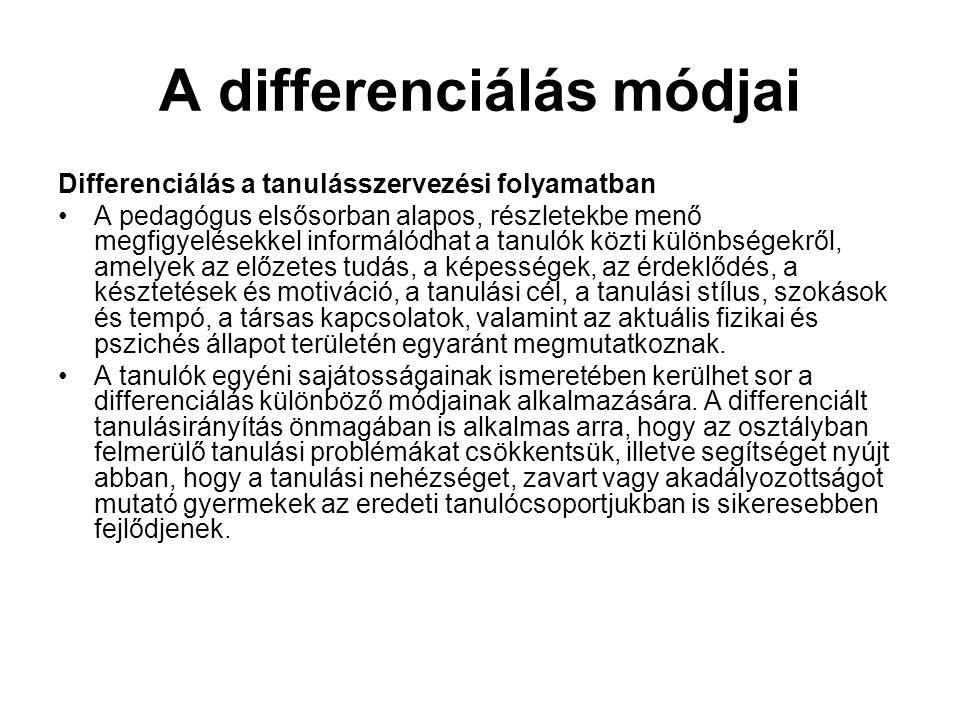 A differenciálás módjai
