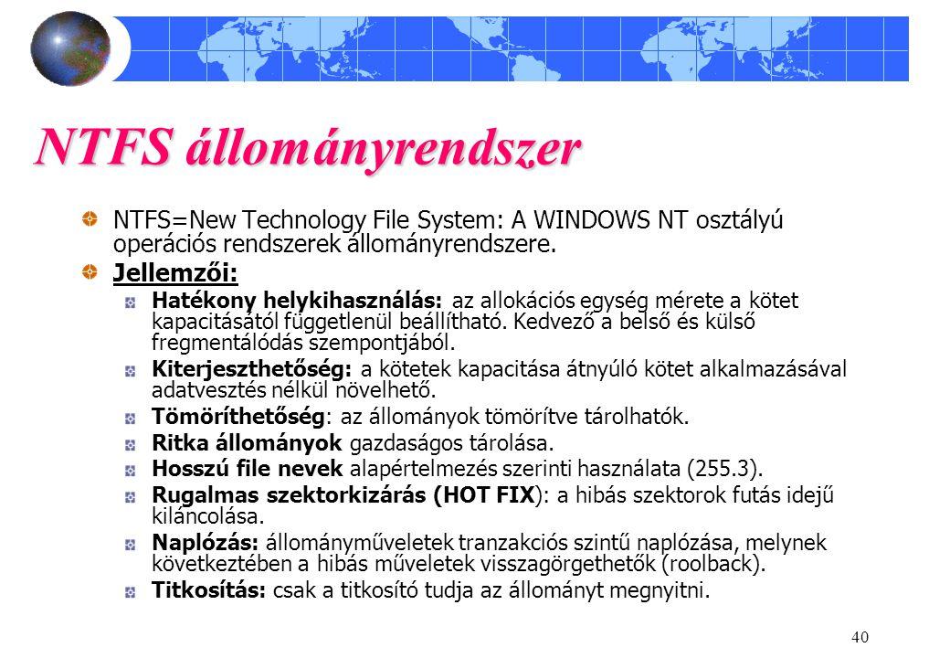 NTFS állományrendszer