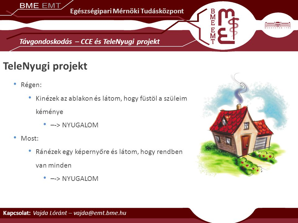 TeleNyugi projekt Távgondoskodás – CCE és TeleNyugi projekt
