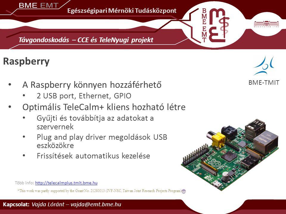 Raspberry A Raspberry könnyen hozzáférhető