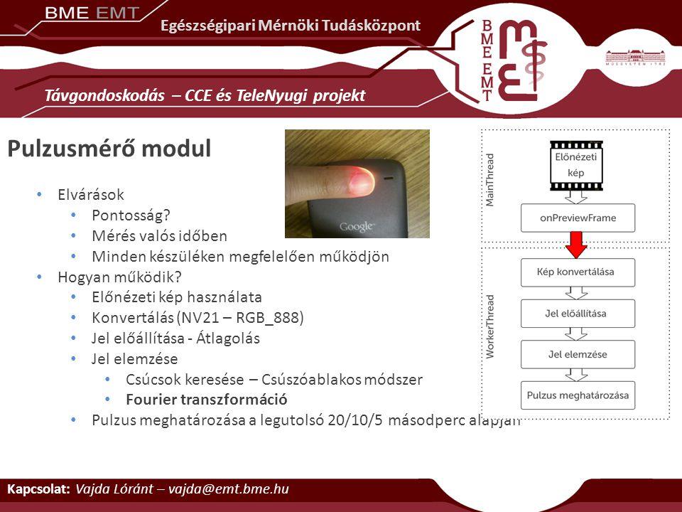Pulzusmérő modul Távgondoskodás – CCE és TeleNyugi projekt
